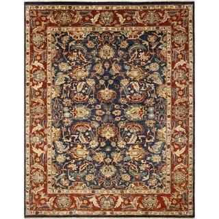 Areeba Blue/Multicolor Wool Peshawar Rug (8'8 x 11'2)