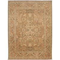 Peshawar Ohrmazd Light Brown Wool Rug (9'1 x 12'1) - 9'1 x 12'1