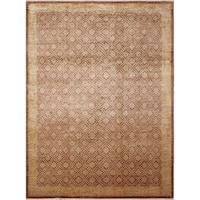 Peshawar Erkebulan Light Brown Wool Oriental Area Rug (8'9 x 11'9) - 8'9 X 11'9