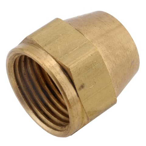 "Amc 754014-05 5/16"" Brass Low Lead Short Nut"