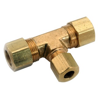 "Amc 750084-060604 3/8"" X 3/8"" X 1/4"" Brass Compression Tee"