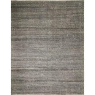 Fine Grass Rehman Grey Wool/Viscose Rug (11'8 x 14'9)