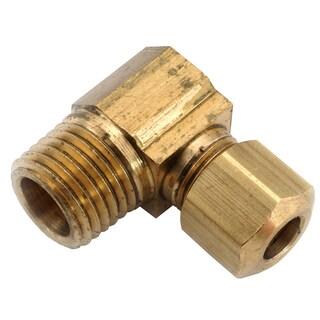 "Amc 750069-0608 3/8"" x 1/2"" Brass Low Lead Male Compression Elbows"