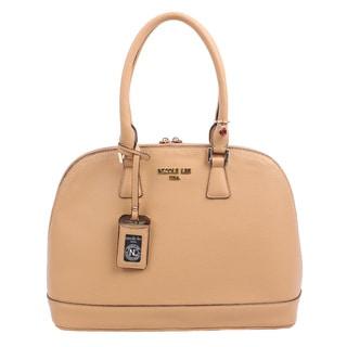 Nicole Lee Kiley Beige Natural Dome Satchel Handbag