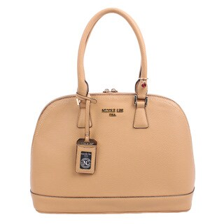 Nicole Lee Kiley Beige Natural Dome Satchel Handbag