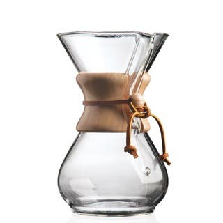Chemex Classic 6-cup Coffee Maker https://ak1.ostkcdn.com/images/products/12598424/P19394743.jpg?impolicy=medium