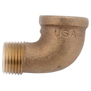 "Amc 738116-08 1/2"" Low Lead Brass 90-degree Street Elbow"