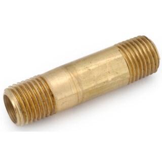 """Amc 736113-0424 1/4"""" X 1-1/2"""" Low Lead Yellow Brass Nipple"""