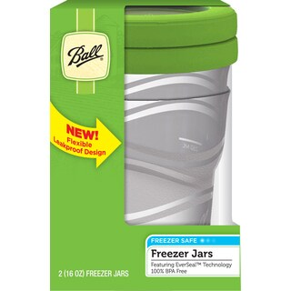 Ball 83105 16 Oz Plastic Freezer Jars 2-count