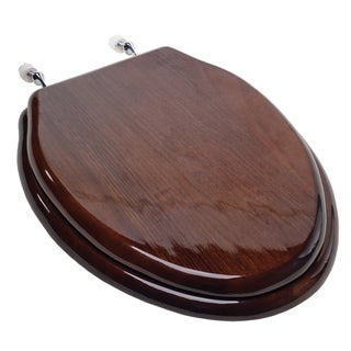 Jones Stephens C2B1E-18CH Piano Finish Wood Designer Toilet Seat