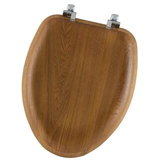 Mayfair 19601CP-378 Elongated Natural Oak Veneer Toilet Seat