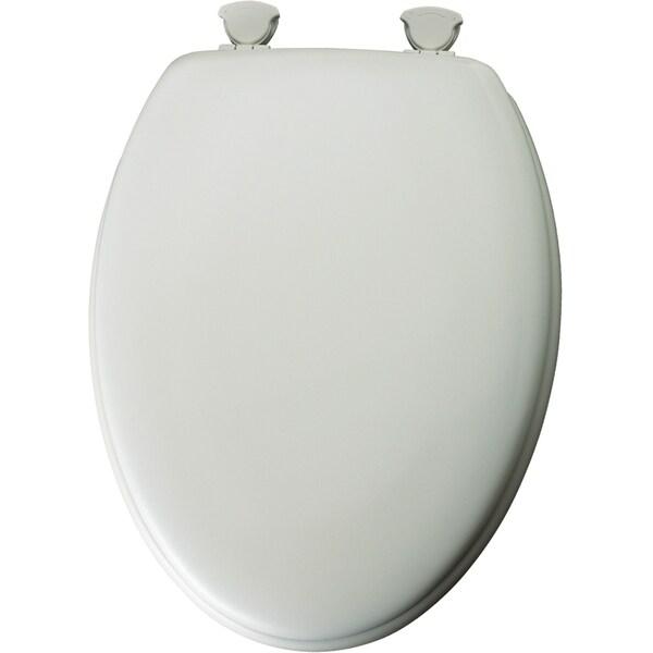 Mayfair 144eca 000 White Elongated Traditional Wood Toilet Seat