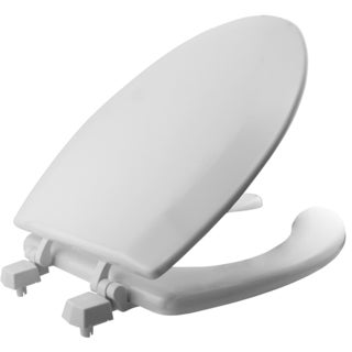 Mayfair 1440-000 White Wood Elongated Toilet Seat