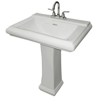 Cascadian Sanitary Ware P2030 33 Lb White China Royal Square Pedestal Lavatory Base