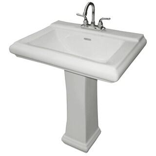 """Cascadian Sanitary Ware L2030 26-3/8"""" X 19-5/8"""" White Royal Square Pedestal Lavatory Top"""