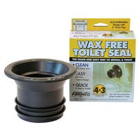 "Fernco FTS-4CF 3"" x 4 "" Wax Free Toilet Seal"
