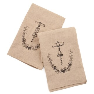 Twine Rustic Elegance 3170 Grapevine Corkscrew Icon Towel 2 Piece Set