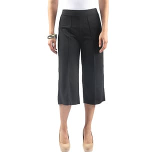 Hadari Women'sElastic Waist Wide Leg Dress Pants