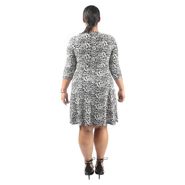 Shop Hadari Women\'s Plus Size Mid Length Sleeve V-Neck Semi ...