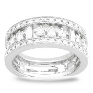 Azaro 18k White Gold 1 1/4ct TDW Diamond Fashion Band