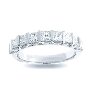 Azaro 18k White Gold 1 1/10ct TDW Channel-set Diamond Fashion Band