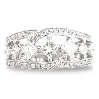 Azaro 18k White Gold 1 1/5ct TDW Diamond Fashion Band