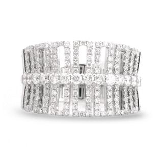Azaro 18k White Gold 7/8ct TDW Art Deco Diamond Fashion Band (G-H, SI1-SI2)