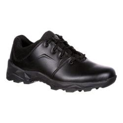 Men's Rocky 4in Elements Of Service Duty Shoe Black Synthetic