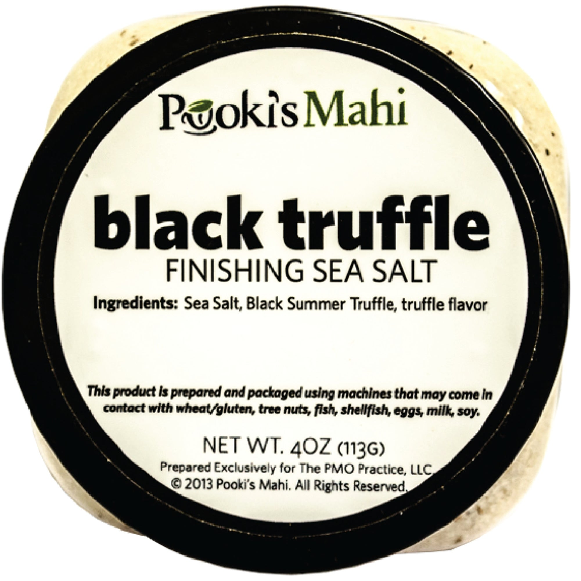 Pooki's Mahi 4-ounce Black Truffle Gourmet Sea Salt