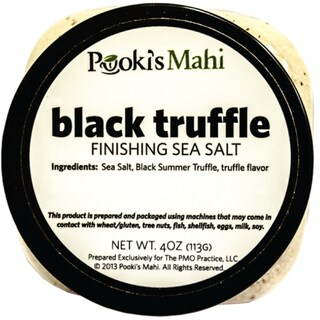 Pooki's Mahi 4-ounce Black Truffle Gourmet Sea Salt