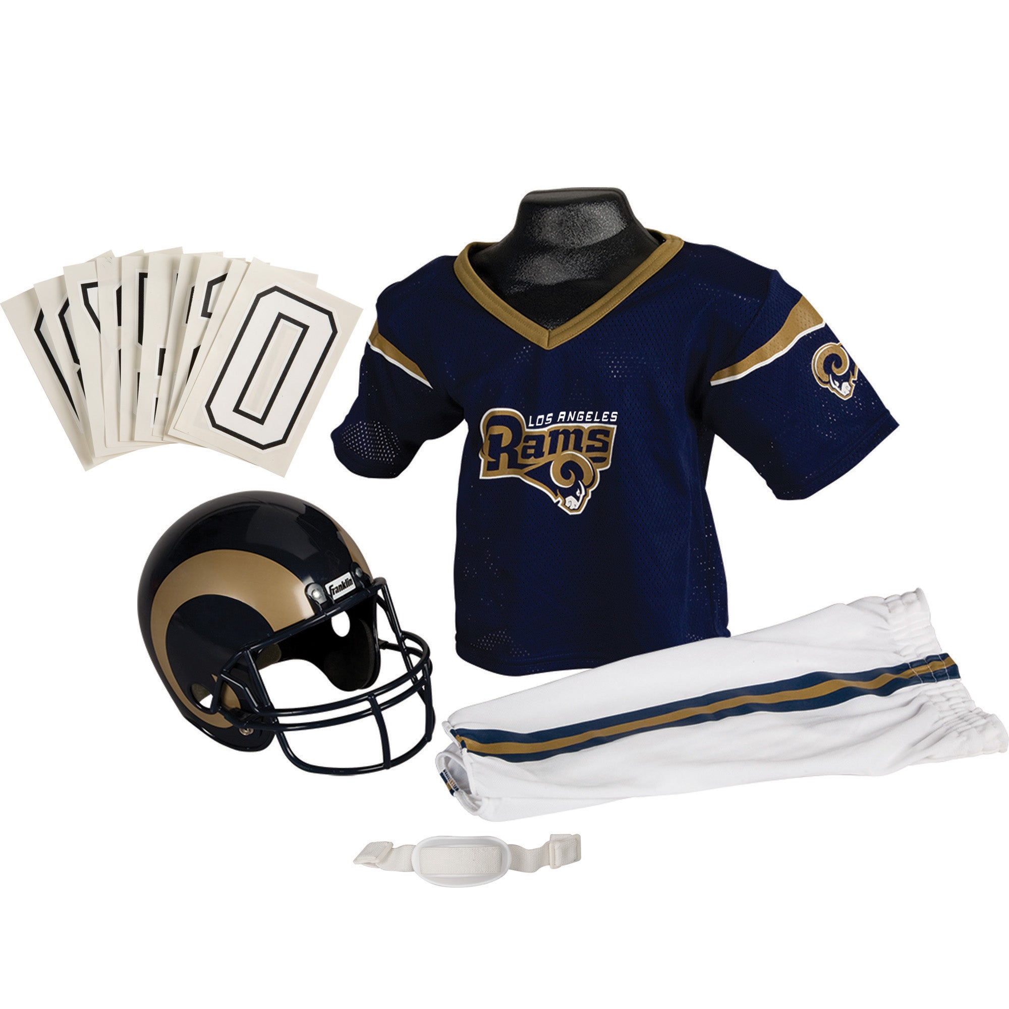 Franklin Sports NFL Los Angeles Rams Deluxe SM Uniform Set