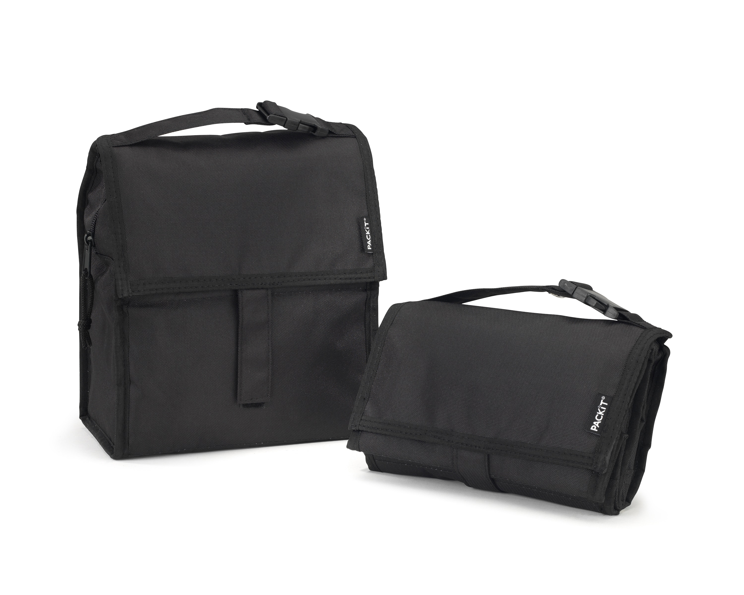 PACKiT Black Lunch Bag