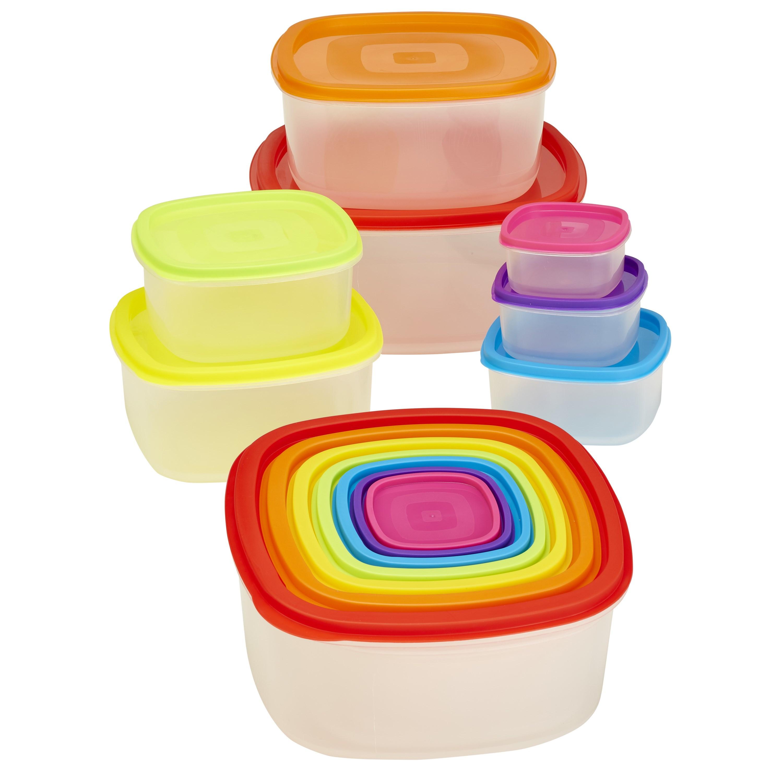 Kitchen Details 14-piece Medium Rainbow Nested Food Storage Set