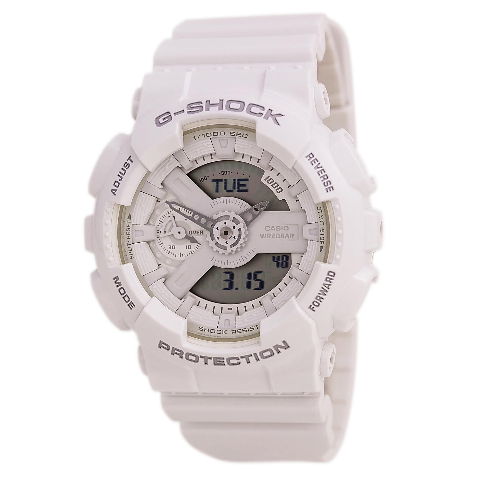 Casio Women's G-Shock S Series GMAS110 White Resin Digital Watch
