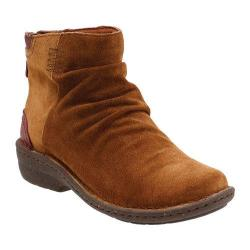 Women's Clarks Avington Swan Slouch Boot Tan Combination Cow Suede