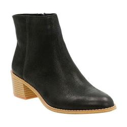 Women's Clarks Breccan Myth Ankle Boot Black Leather