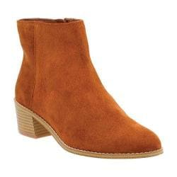 Women's Clarks Breccan Myth Ankle Boot Tan Suede
