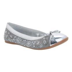 Girls' Nina Karel Ballet Flat Grey Microsuede