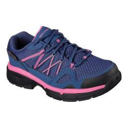Women's Skechers Work Relaxed Fit Conroe Abbenes ESD Oxford Navy/Pink