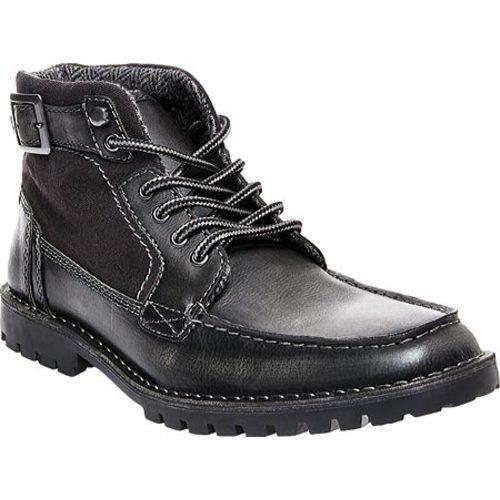 12cb86461fe Men's Steve Madden Nummero Moc Toe Boot Black Leather