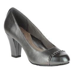 Women's Soft Style Cailna Pump Dark Pewter Vitello/Dark Grey Pearlized Patent