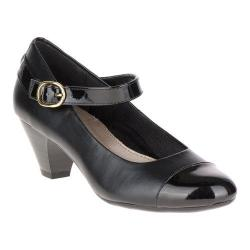 Women's Soft Style Geena Mary Jane Black Vitello/Black Patent
