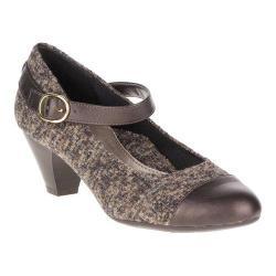 Women's Soft Style Geena Mary Jane Dark Brown Tweed/Gunmetal Vitello