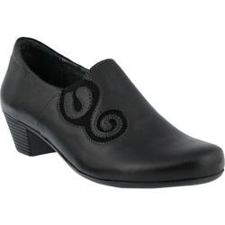 Women's Spring Step Birye Slip On Black Leather