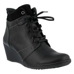 Women's Spring Step Sem Ankle Boot Black Leather