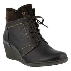 Women's Spring Step Sem Ankle Boot Dark Brown Leather