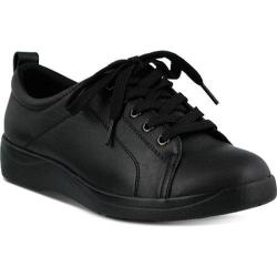 Women's Spring Step Wiress Lace Up Black Leather