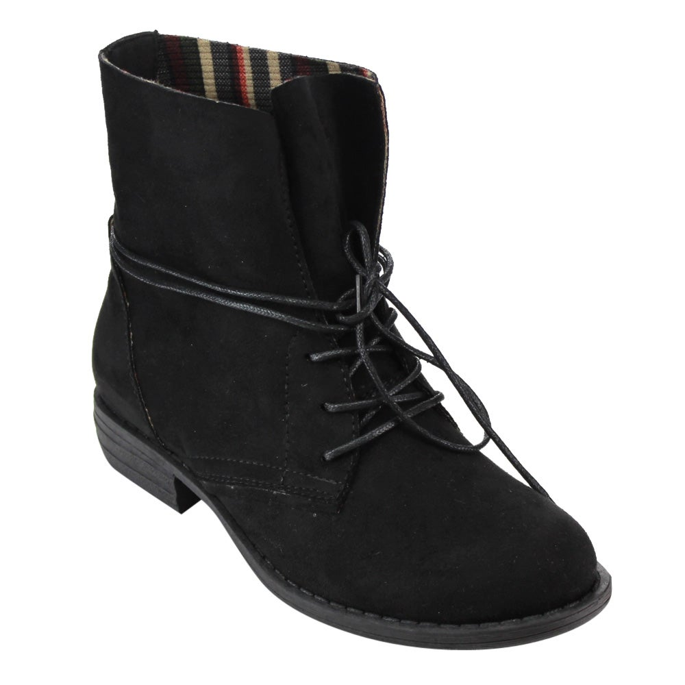 Betani FC99 Women's Lace-up Block Heel Ankle Boots