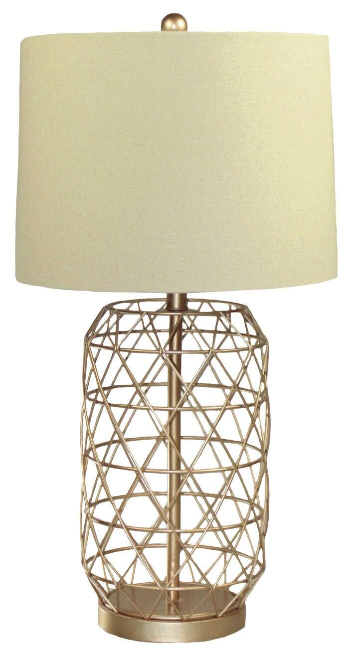 Nadia Baked Goldtone Iron Lamp
