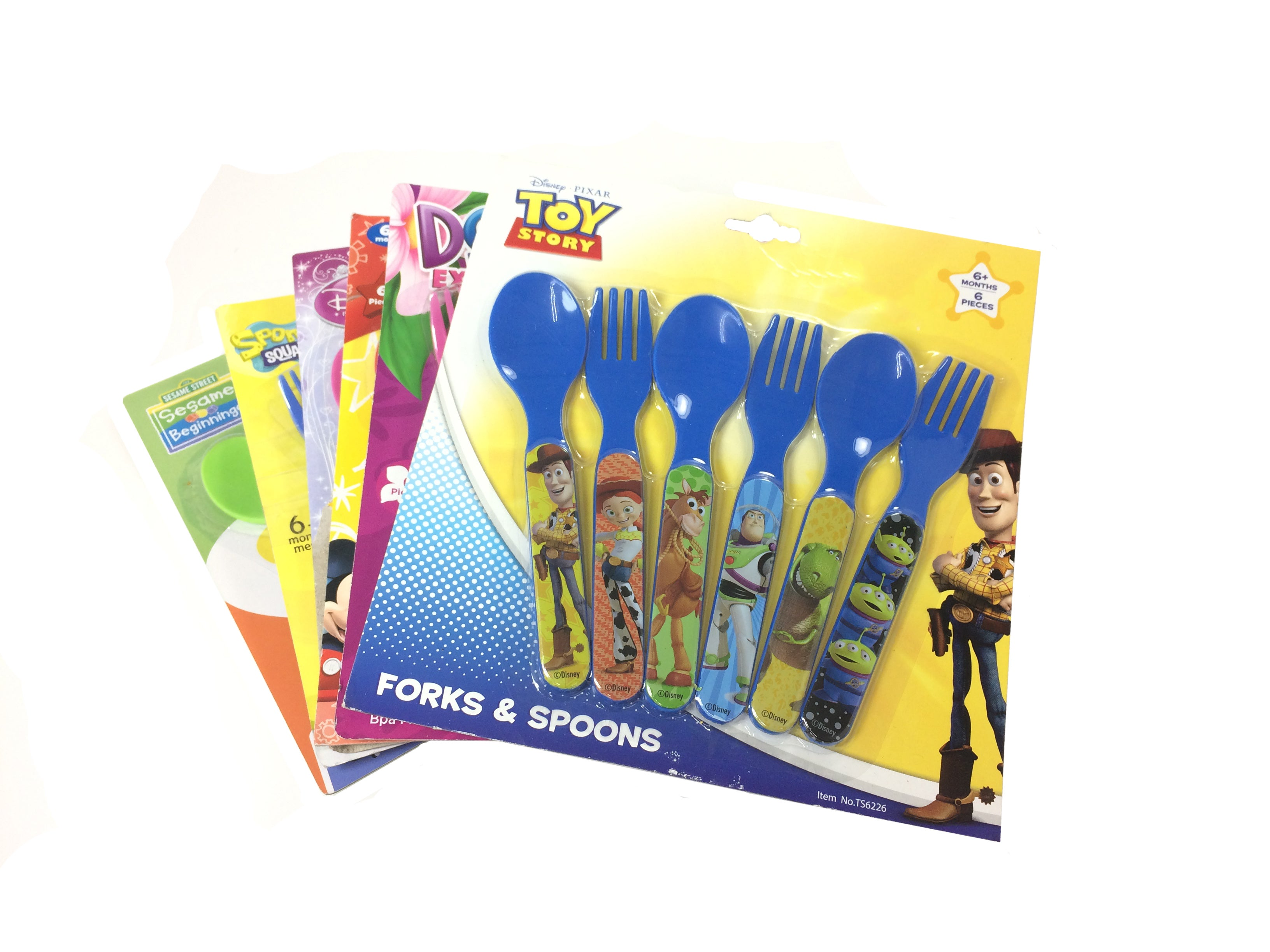 Animated Characters 6-piece Fork and Spoon Set (Pack of 4)